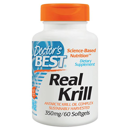 Doctors Best Real Krill - Antarctic Krill Oil - 60 x 350mg Softgels