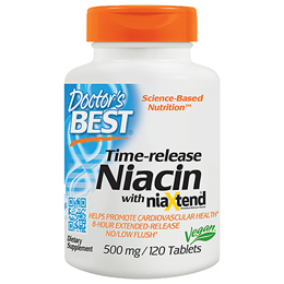 Doctors Best Time-Release Niacin with NiaXtend - 120 x 500mg Tablets
