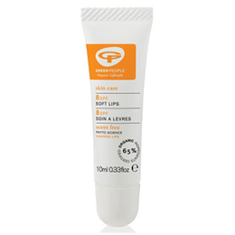 Green People Soft Lips - Scent Free Lip Balm - SPF 8 - 10ml