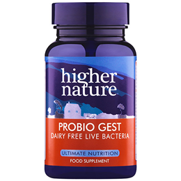 Higher Nature Probiogest Lactobacillus Probiotic Bacteria 30 Vegicaps