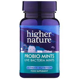 Higher Nature ProbioMints - Live Bacteria Mints - 60 Tablets