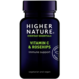Higher Nature Rosehips C 1000 - Vitamin C & Rosehips - 90 Tablets