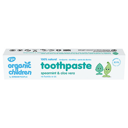 Green People Organic Children Spearmint & Aloe Vera Toothpaste - 50ml