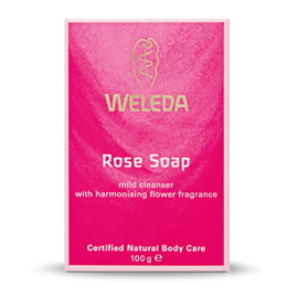 Weleda Rose Soap - Mild Cleanser - 100g - Best before date is 30th April 2019