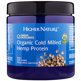 Higher Nature Omega Excellence Organic Cold Milled Hemp Protein - 250g