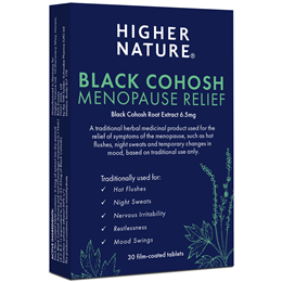 Higher Nature Black Cohosh Menopause Relief - 30 x 6.5mg Tablets