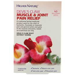 Higher Nature Devils Claw Muscle & Joint Pain Relief - 40 Tablets