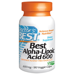 Doctors Best Alpha-Lipoic Acid - 180 x 600mg Vegicaps