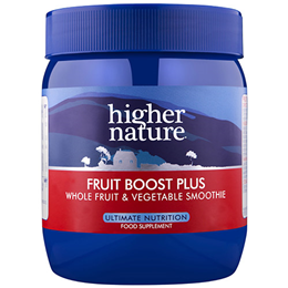 Higher Nature Fruit Boost Plus - Whole Fruit & Vegetable Smoothie - 225g - Best before date is 30th April 2019