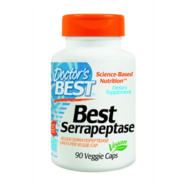 Doctors Best Serrapeptase - 40,000 Units - 90 Vegicaps