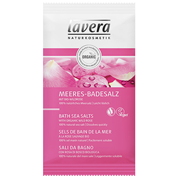 lavera Bath Sea Salts - Organic Wild Rose - 80g