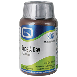 Quest Once A Day - Quick Release Multivitamin & Mineral - 30 Tablets