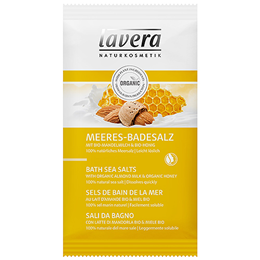 lavera Bath Sea Salts - Organic Almond Milk & Honey - 80g