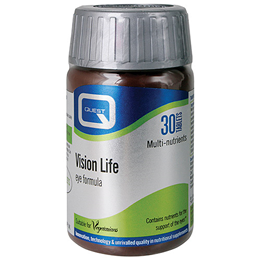 Quest Vision Life - Vitamin & Mineral Eye Health Support - 30 Tablets - Best before date is 31st May 2020