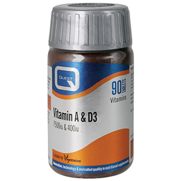 Quest Vitamin A & D High Potency Vitamin Supplement - 90 Tablets