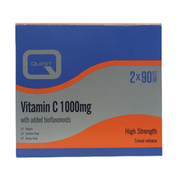 Quest Vitamin C - Special Offer Twin Pack - 90+90 x 1000mg Tablets