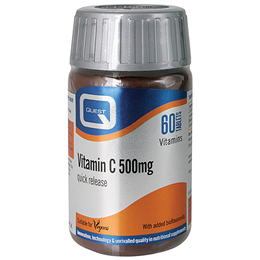 Quest Vitamin C 500mg - Quick Release Vitamin C Formula - 60 Tablets