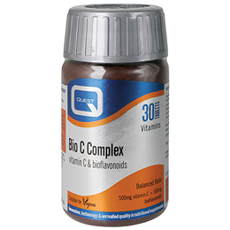 Quest Bio C Complex - Vitamin C Food Supplement - 30 x 500mg Tablets - Best before date is 30th April 2019