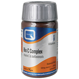 Quest Bio C Complex - Vitamin C Food Supplement - 90 x 500mg Tablets