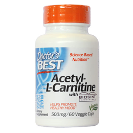 Doctors Best Acetyl L-Carnitine - 60 x 500mg Capsules