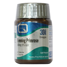 Quest Evening Primrose 500mg (9%) GLA - 30 Capsules