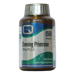 Quest Evening Primrose Oil 500mg Omega 6 Fatty Acids - 150 Capsules - Best before date is 31st March 2020