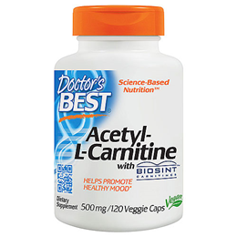 Doctors Best Acetyl L-Carnitine - 120 x 500mg Capsules