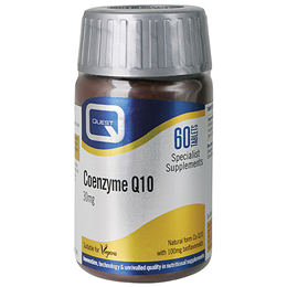 Quest Coenzyme Q10 - Cardiovascular Health - 60 x 30mg Tablets