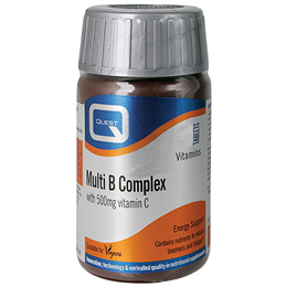 Quest Multi B Complex - B Vitamins + 500mg Vitamin C - 60 Tablets