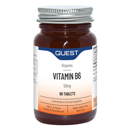 Quest Vitamin B6 - 50mg - For A Healthy Wellbeing - 60 Tablets