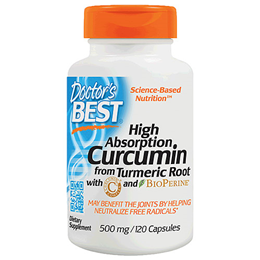 Doctors Best High Absorption Curcumin - BioPerine - 120 x 500mg Capsules