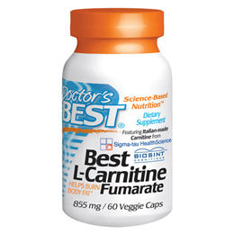 Doctors Best L-Carnitine Fumarate - 60 x 855mg Capsules