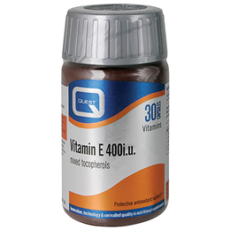 Quest Vitamin E 400iu - For Cardiovascular Health - 30 Capsules
