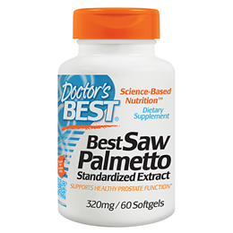 Doctors Best Saw Palmetto - 60 x 320mg Softgels