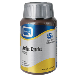 Quest Amino Complex 500mg - All 8 Essential Amino Acids - 45 Tablets