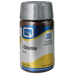 Quest L-Glutamine 500mg - Fuel for Cells - 30 Capsules