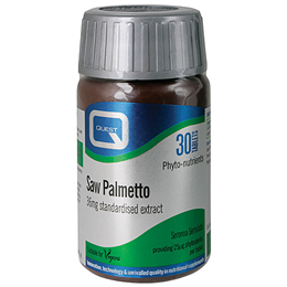 Quest Saw Palmetto 36mg Standardised Extract - 30 Vegan Tablets