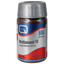 Quest Multimineral 10 - Complex Formula - 60 Tablets