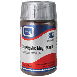 Quest Synergistic Magnesium - Vitamin B6 - 30 x 150mg Tablets