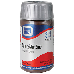 Quest Synergistic Zinc with Copper - 30 x 15mg Tablets