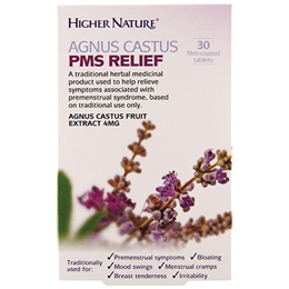 Higher Nature Agnus Castus PMS Relief - 30 x 4mg Tablets