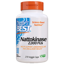 Doctors Best Nattokinase 2000 FUs - 270 x 100mg Vegicaps