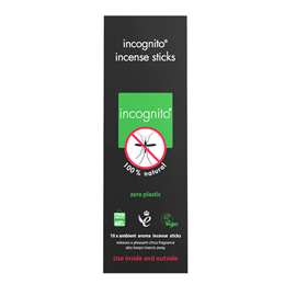 incognito Citronella Incense Sticks - Insect Repellent - 10 Sticks