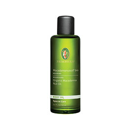 PRIMAVERA Organic Body Oil - Macadamia Nut Oil - 100ml - Best before date is 31st January 2019
