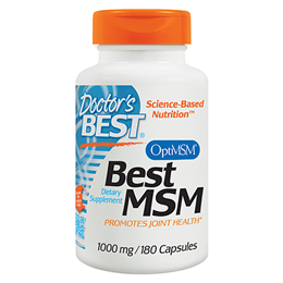 Doctors Best MSM - 180 x 1000mg Capsules