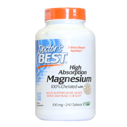 Doctors Best High Absorption Magnesium Chelated - 240 x 100mg Tablets