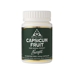 Bio Health Capsicum Fruit - 60 x 250mg Vegicaps