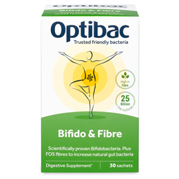 OptiBac Probiotics Bifidobacteria & Fibre - High in Fibre - 30 Sachets