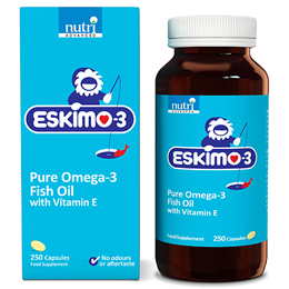 Eskimo-3 Pure Omega 3 Fish Oil with Vitamin E - 250 Capsules