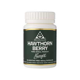 Bio Health Hawthorn Berry - 120 x 450mg Vegicaps